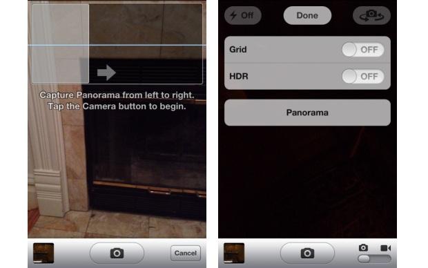 Recurso de foto panorâmica nativo no app da câmera do iPhone (Foto: Divulgação)
