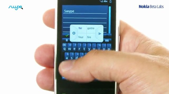Swype para Symbian (Foto: Reprodução)