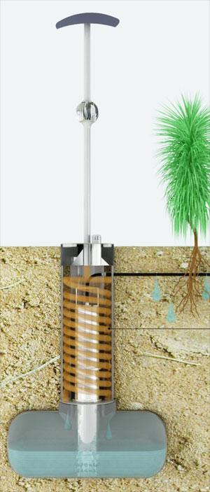 O sistema tira a água do ar e a devolve para o lugar de onde saiu, as raízes das plantas. (Foto: Divulgação)