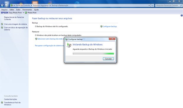 Backup Windows 7 (Foto: Reprodução/TechTudo)