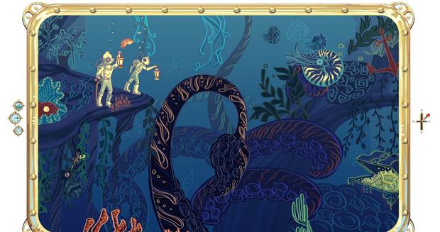 Homenagem do Google a Jules Verne (Foto: Reprodução)