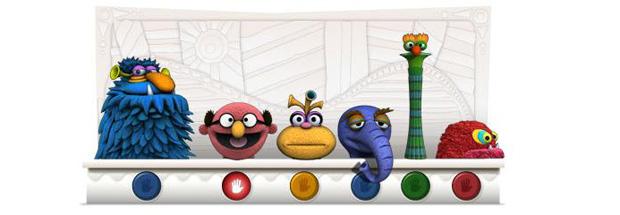 Hoemagem a Jim Henson, criador dos bonecos Muppets (Foto: Reprodução)