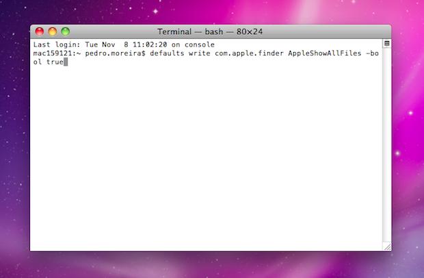 Terminal no Mac OS X (Foto: Reprodução/TechTudo)
