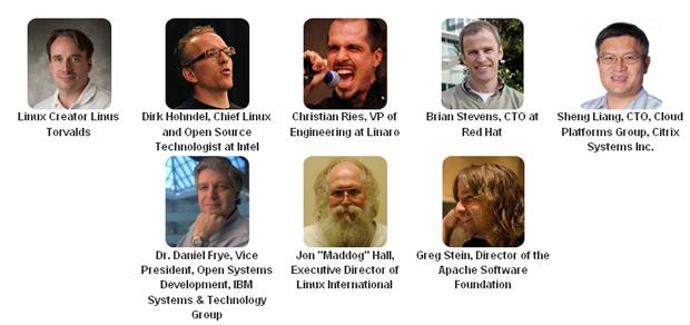 Alguns dos palestrantes confirmados da LinuxCon (Foto: Divulgação)