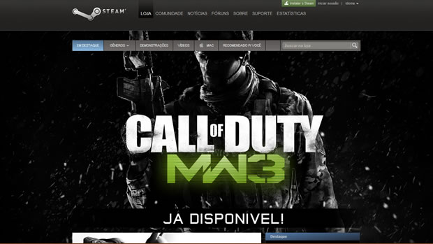 Steam, um dos principais responsáveis pela popularização das vendas digitais (Foto: Divulgação)