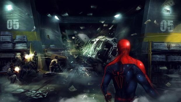 Surgem novas artworks do jogo do Homem-Aranha baseado no novo filme (Foto: Divulgação)