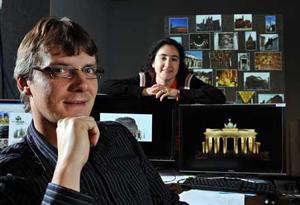 Em primeiro plano: Jan-Michael Frahm, um dos idealizadores do programa espião. (Foto: Reprodução)