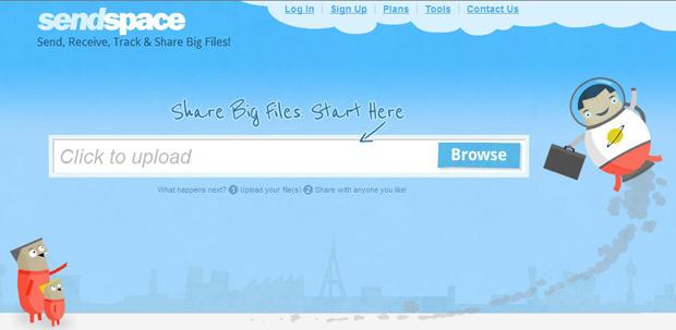 SendSpace: site para compartilhar arquivos (Foto: Reprodução )
