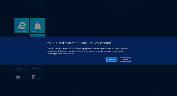 Novo sistema de atualizações do Windows 8. (Foto: Reprodução)