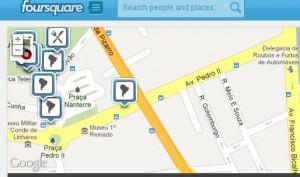 Foursquare via PCs (Foto: Reprodução)