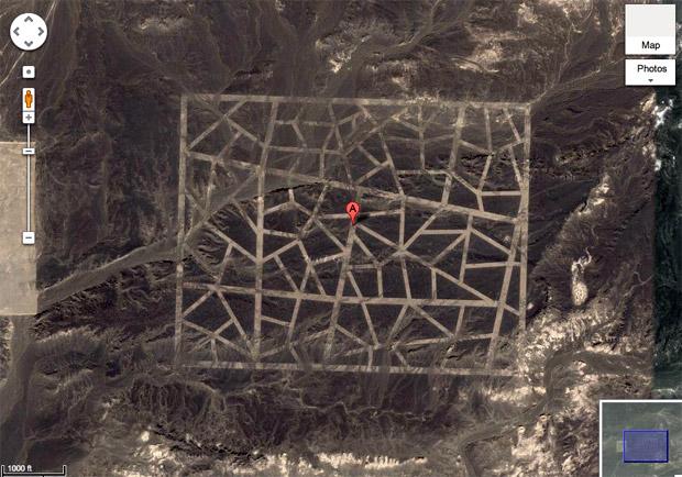 Imagem de estrutura misteriosa descoberta pelo Google Earth, na China. (Foto: Reprodução)