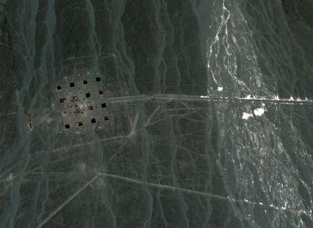 Imagem de estrutura misteriosa descoberta pelo Google Earth, na China. (Foto: Divulgação)