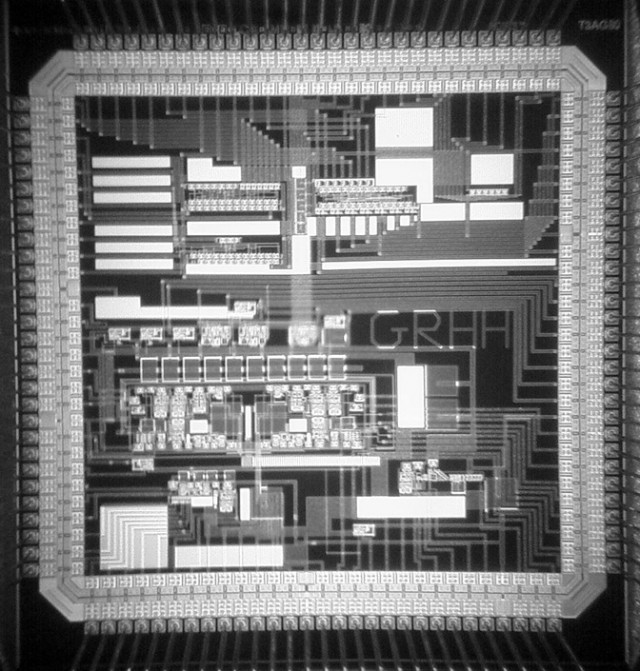 O chip tem mais de 400 transistores para poder imitar as sinapses cerebrais. (Foto: Guy Rachmuth)
