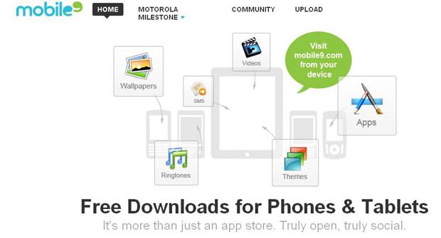 Mobile9: app store com aplicativos gratuitos (Foto: Reprodução)