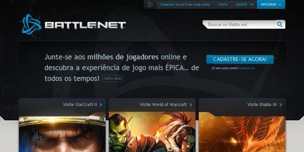 Site do battle.net (Foto: Divulgação)
