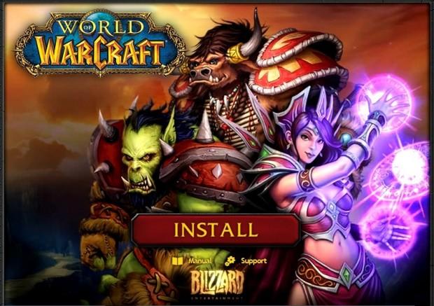 Tela de instalação do World of Warcraft (Foto: Reprodução)