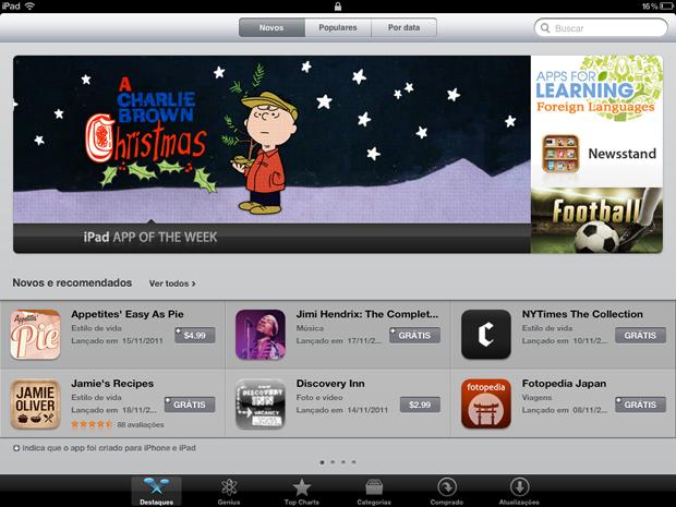 App Store do iPad em português (Foto: Reprodução)