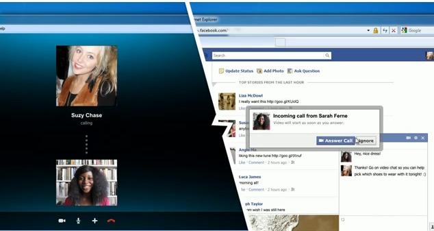 Os usuários do Skype terão acesso a diversos tipos de conteúdo do Facebook no próprio programa. (Foto: Reprodução/ Mashable)