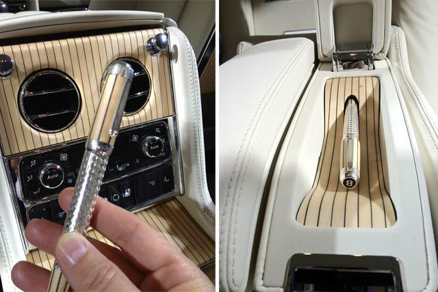 O interior do carro inclui local para armazenar caneta. (Foto: Evan Orensten)