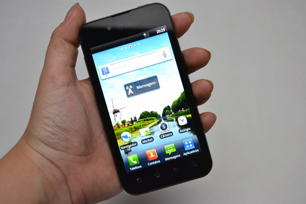 LG Optimus Black P970, um display simples e discreto (Foto: Stella Dauer)