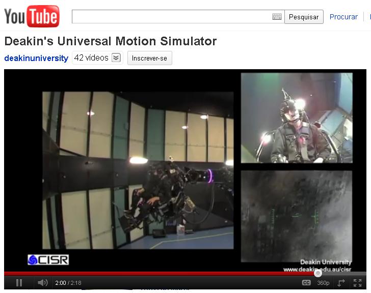 Universal Motion Simulator. (Foto: Reprodução)
