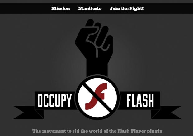 'O movimento que livrará o mundo do plugin Flash Player'. (Foto: Divulgação)