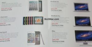 Flyer de produtos com preços promocionais do Black Friday norte-americano (Foto: Reprodução/9to5Mac)