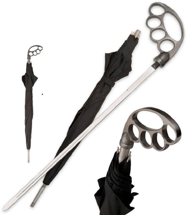 guarda-chuva-poderoso (Foto: Guarda-chuva esconde uma espada. (Foto: Divulgação))