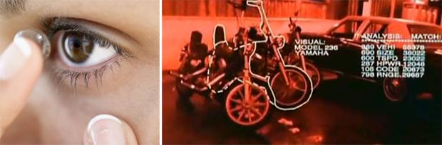 Lente de contato computadorizada pode tornar real cenas como a do filme Exterminador do Futuro 2 (Foto: Reprodução/TechTudo)