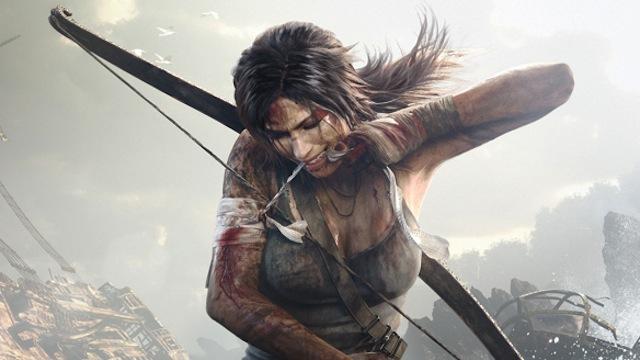 Lara Croft no jogo Tomb Raider (Foto: Divulgação)