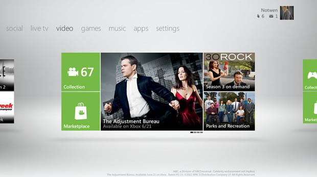 Nova dashboard do Xbox 360 (Foto: Divulgação)