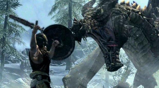 Testando os limites do PC, jogador coloca 50 dragões na tela em Skyrim. Elder-scrolls-5-skyrim-details-magic-weapon-dragons_620x344