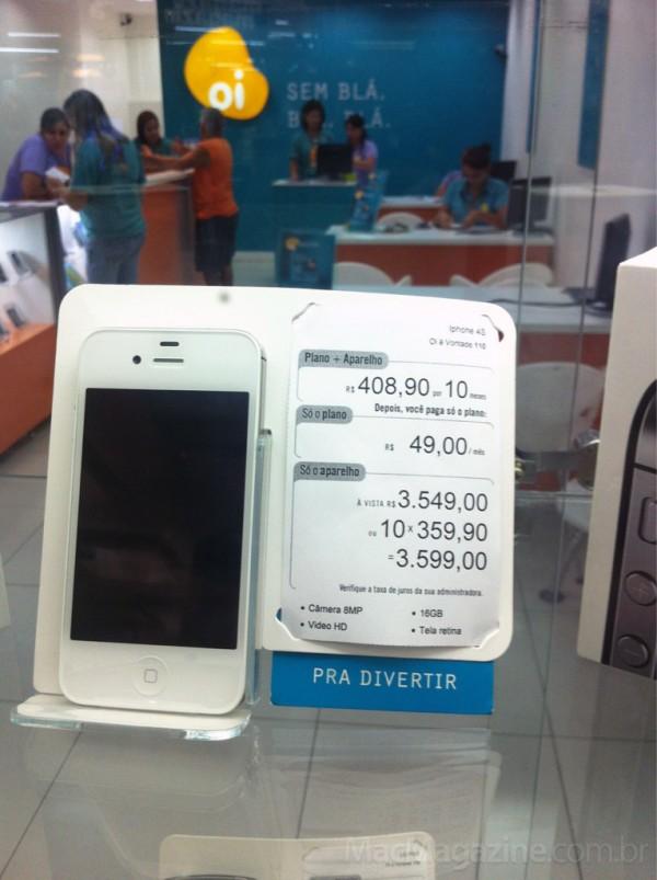 iPhone 4S, na Oi (Foto: Reprodução/MacMagazine)