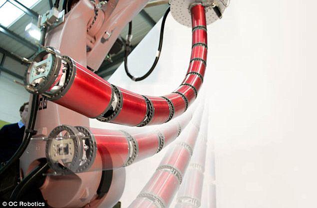 O robô se move coma flexibilidade de uma cobra. (Foto: Reprodução/ Daily Mail)