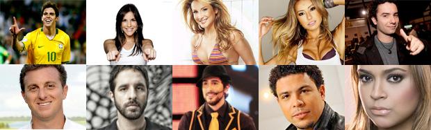Celebridades mais badaladas nas redes sociais (Foto: Reprodução)