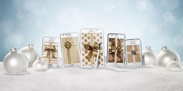 Galaxy Y, Galaxy Ace, Galaxy S Plus, Galaxy S II e Galaxy Note ganahram modelos de cor branca (Foto: Divulgação)