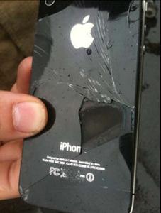 iPhone 4 que pegou foto, na Austrália (Foto: Divulgação)