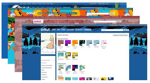 Novos temas do Orkut. (Foto: Divulgação)