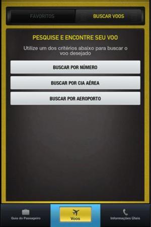 Interface de busca de vôos (Foto: Divulgação)