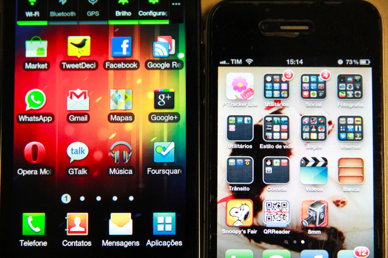 iOS vs Android (Foto: Allan Melo/TechTudo)
