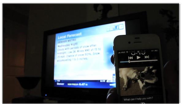 Siri e mod para controle remoto (Foto: Reprodução)