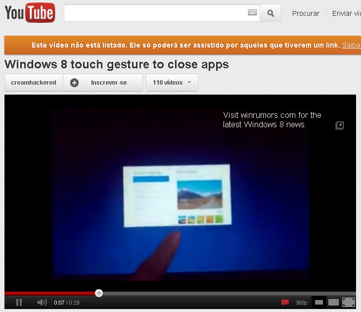 Na interface Metro, é possível que o fechamento de janelas também seja com os dedos. (Foto: Reprodução)