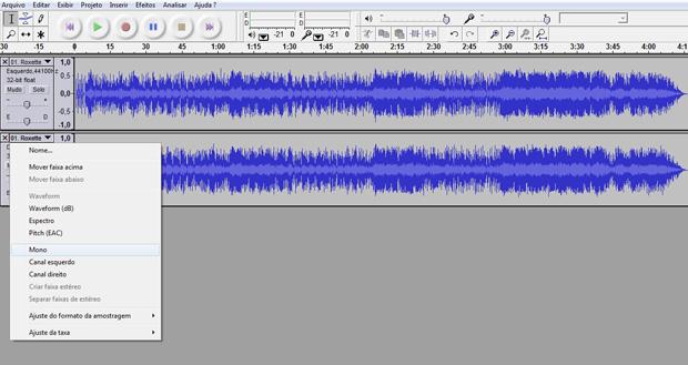 Audacity: programa de edição de áudio (Foto: Reprodução)