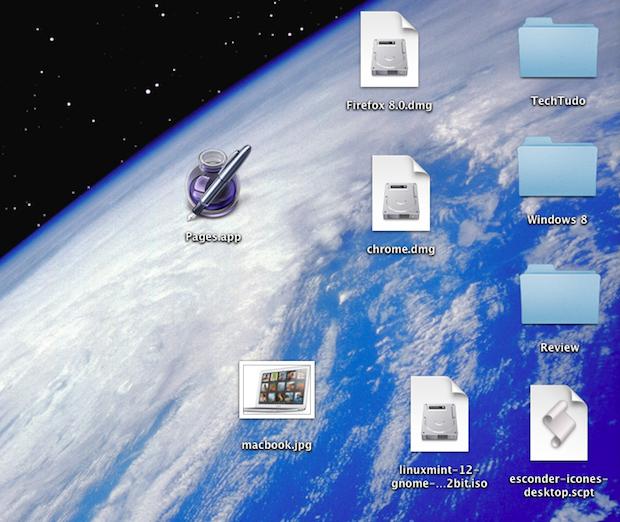 Desktop cheio de ícones (Foto: Reprodução/TechTudo)