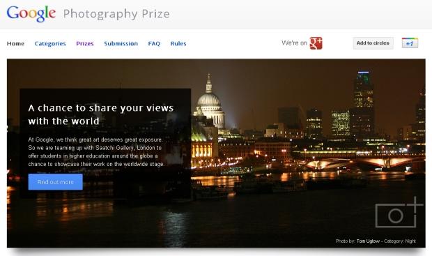 Google Photography Prize no Google+ (Foto: Reprodução)