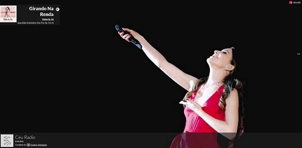 Senzari - rádio iniciada selecionando a cantora Céu toca Roberta Sá na sequência (Foto: Reprodução)