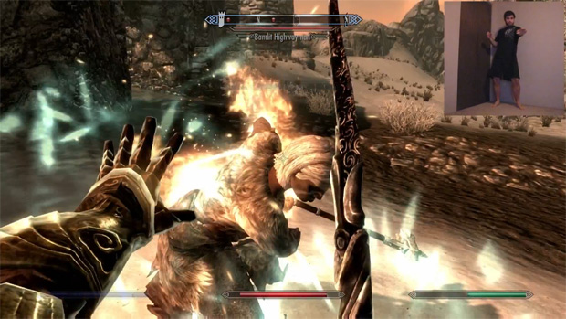 Nova modificação de The Elder Scrolls V: Skyrim permite jogar com o Kinect (Foto: Divulgação)