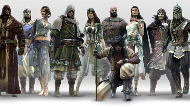 Os personagens do multiplayer de Assassin's Creed: Revelations (Foto: Divulgação)