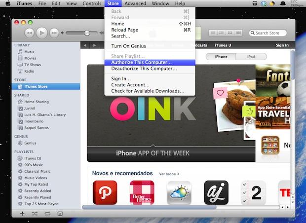 iTunes - Autorizar este computador (Foto: Reprodução/TechTudo)