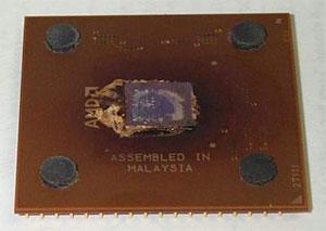 Chip queimado (Foto: Reprodução/Tom's Hardware)